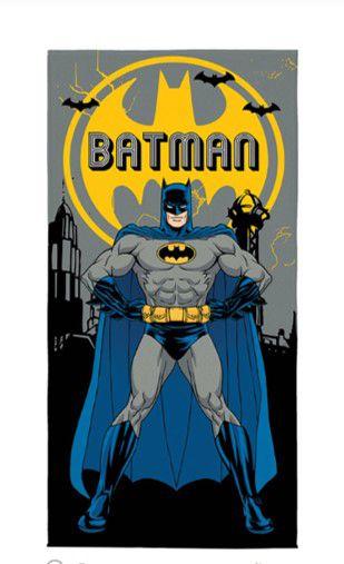 Toalha Aveludada Estampada do Batman