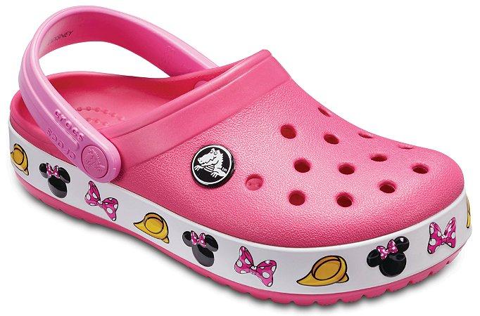 Crocs da Minnie - Rosa - Estilo Crocband  Fashion