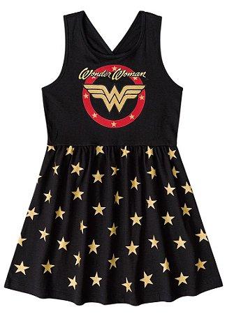 Vestido da Mulher Maravilha - Liga da Justiça- Preto