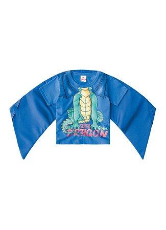 Camiseta Dragão com Asas - Azul