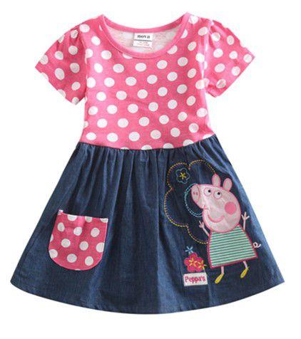 Vestido da Peppa Pig - Poá Rosa