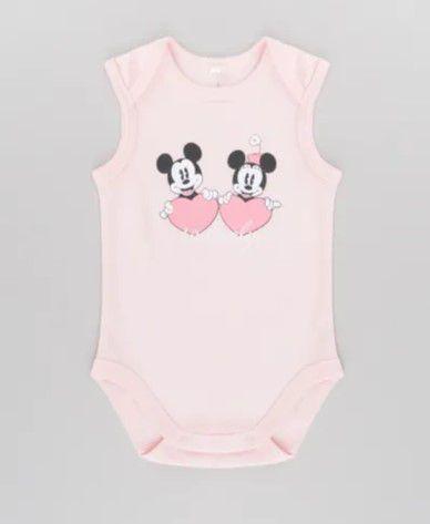 Body do Mickey e Minnie - Disney - Algodão Sustentável