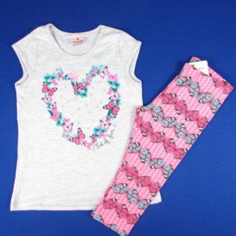 Conjunto Blusa e Legging - Borboletas