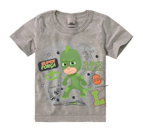 Camiseta PJ Masks - Lagartixo - Cinza - Malwee