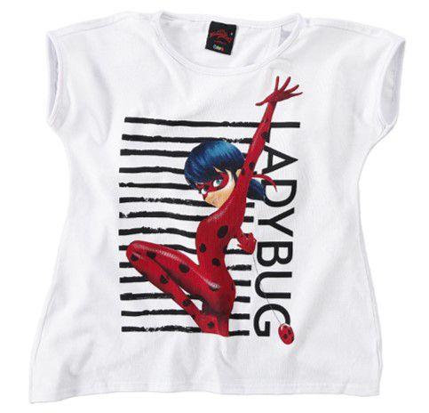 Blusa Ampla - Miraculous - Ladybug - Branca - Malwee