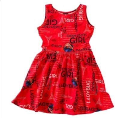 Vestido Miraculous Ladybug - Vermelho