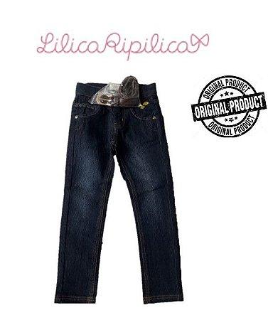 Calça Jeans Trançada com Cinto - Lilica Ripilica