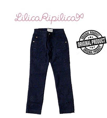 Calça de Sarja com Veludo - Lilica Ripilica
