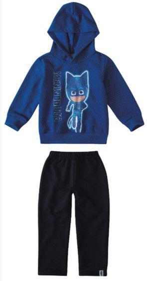 Conjunto de Blusa e Calça de Moletom - Menino Gato - PJ Masks