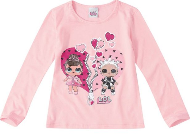 Blusa LOL Surprise - Rosa - Fresh e Fancy