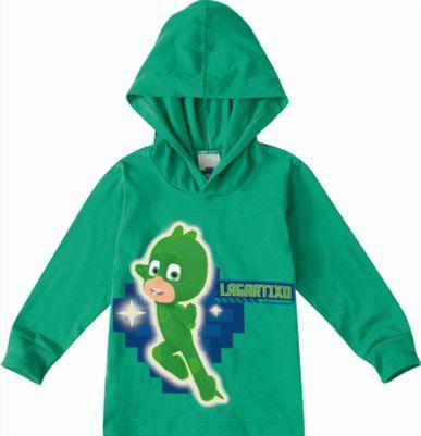 Blusa Lagartixo - PJ Masks - Verde - Malwee