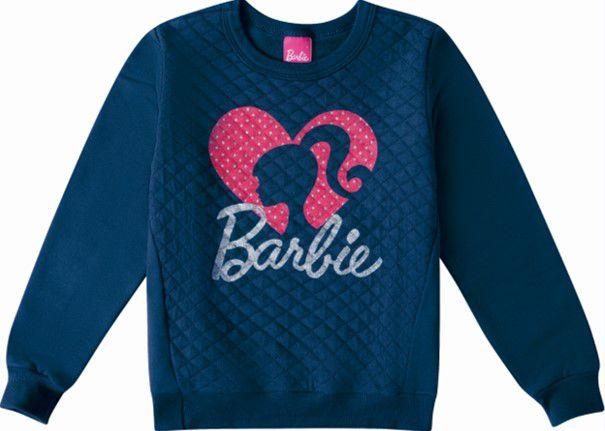 Moletom Felpado Barbie - Azul Marinho - Malwee