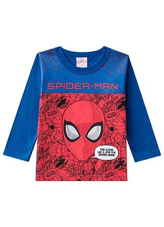 Camiseta do Homem Aranha - Azul e Vermelha - Brandili