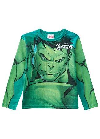 Camiseta do Hulk  - Avengers - Brilha no Escuro - Verde - Brandili