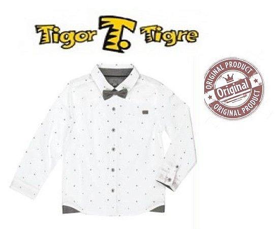 Camisa com Gravata  -Tigor T Tigre