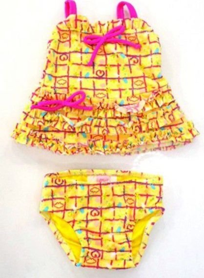 Biquini Regata e Calcinha Bebê Menina Amarelo - Lilica Ripilica Baby