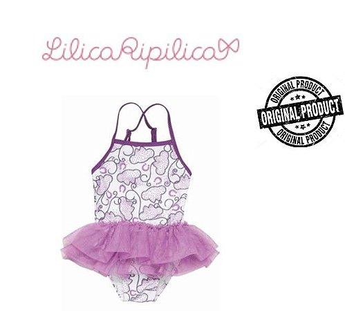 Maiô Lilás com Tule - Lilica Ripilica Baby