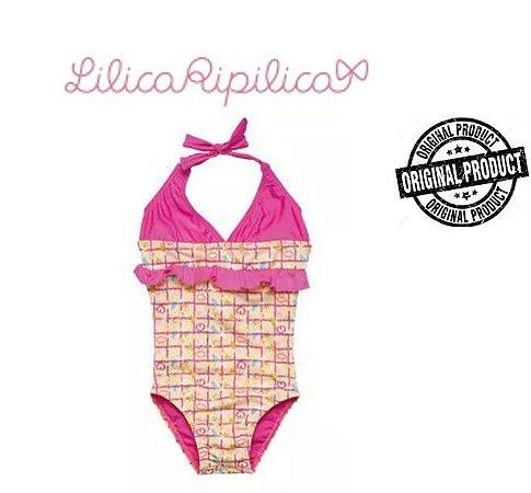 Maiô Amarelo com Babado Rosa - Lilica Ripilica Baby