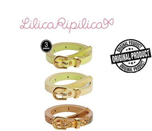 Kit 3 Cintos Lilica Ripilica