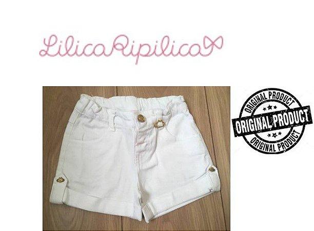 Shorts de Sarja Lilica Ripilica - Branco