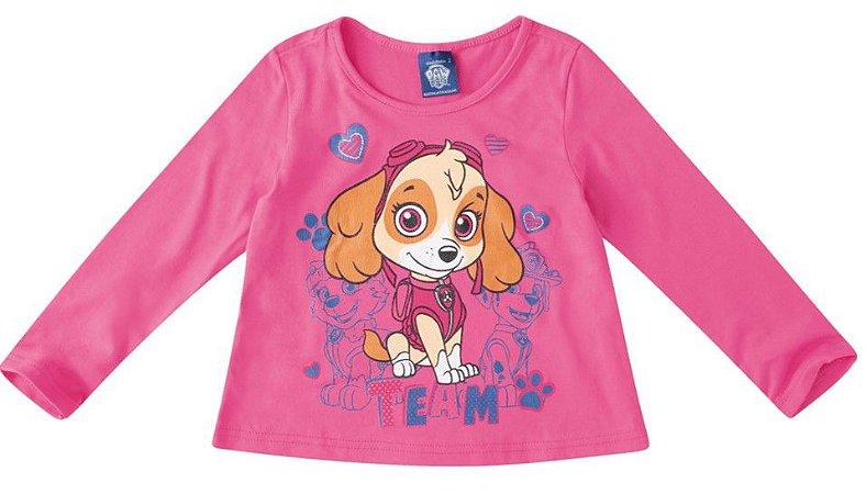 Blusa Patrulha Canina Skye - Rosa - Malwee