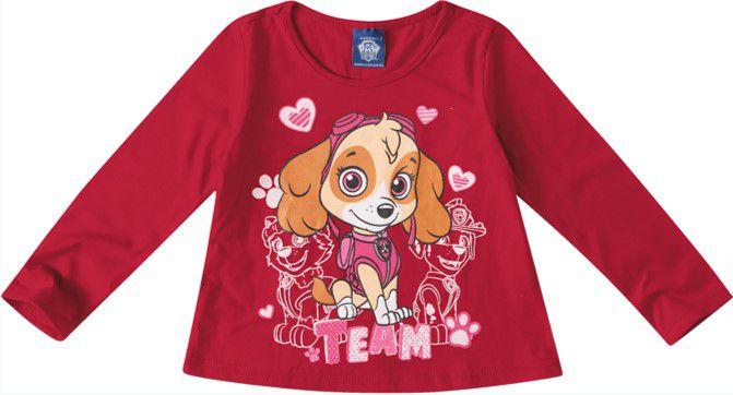 Blusa da Skye - Patrulha Canina - Vermelha