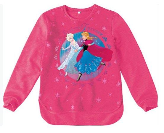 Moletom Felpado - Anna e Elsa - Disney Frozen - Rosa