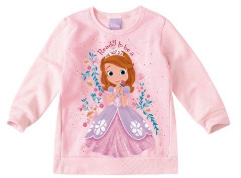 Moletom Felpado Princesa Sofia - Disney - Rosa Claro
