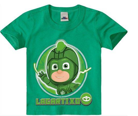 Camiseta PJ Masks Verde - Lagartixo