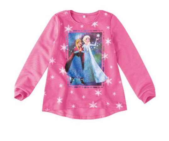 Moletom Felpado Rosa - Anna e Elsa - Disney Frozen