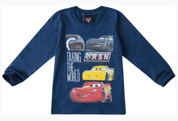 Camiseta Mcqueen - Azul Marinho - Carros