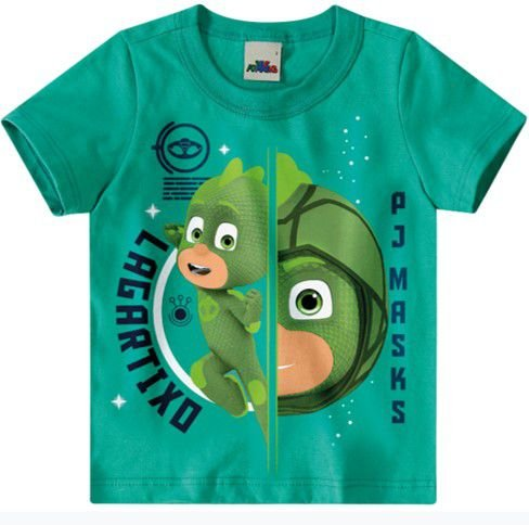 Camiseta PJ Masks Lagartixo - Verde