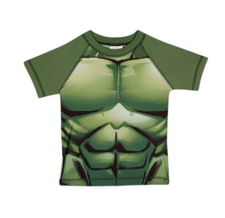 Camiseta Proteção UV 50 FPS  - Hulk - Avengers - Manga Curta - Verde - Tiptop