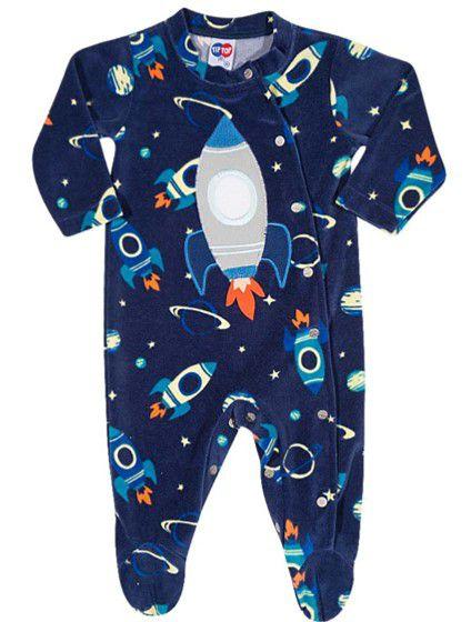 Macacão Bebê Foguete Linha Espacial - Azul - Tiptop