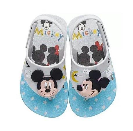 Sandália Disney Cute Mickey - Azul e Branco - Grendene Kids