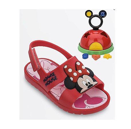 Sandália Disney Minnie - Com Brinde - Vermelha - Grendene Kids