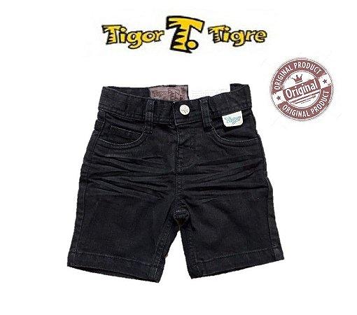 Bermuda Jeans Preta - Tigor T. Tigre