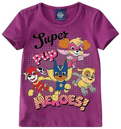 Blusa Patrulha Canina - Super Heroes - Roxa - Malwee