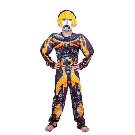 Fantasia do Bumblebee com Máscara - Transformers - Amarela