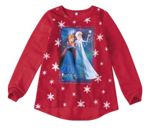 Moletom Felpado Vermelho - Anna e Elsa - Disney Frozen