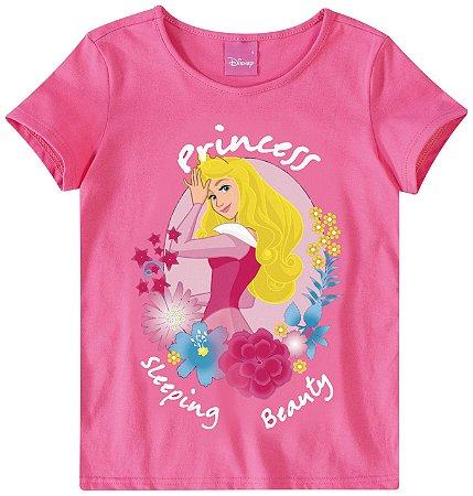 Blusa Princesa Aurora - Princesas da Disney - Rosa