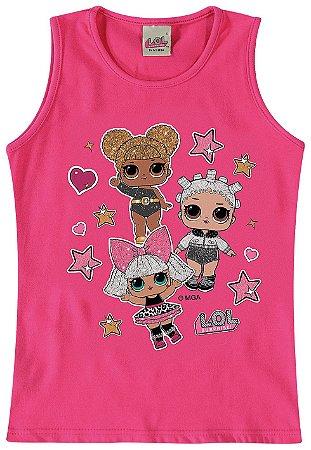 Blusa Infantil LOL Surprise Queen Bee, Diva e Fresh - Rosa - Malwee