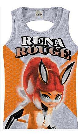 Blusa da Rena Rouge - Miraculous - Cinza e Laranja - Malwee