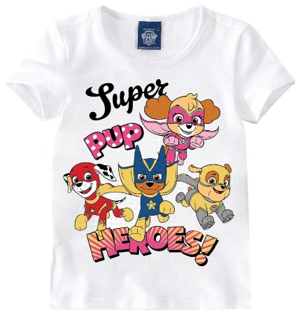 Blusa da Patrulha Canina - Super Heroes - Branca - Malwee