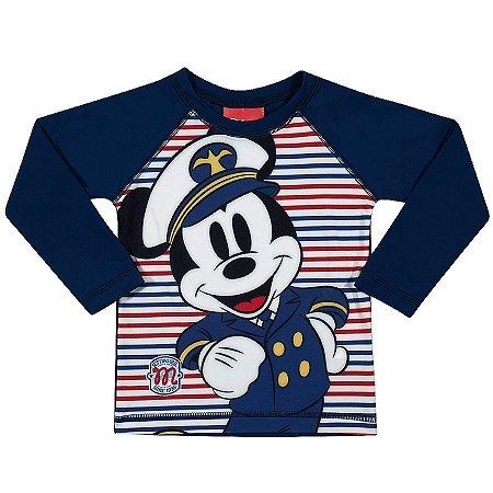 Camiseta Proteção UV 50 FPS  - Mickey - Disney - Azul Marinho