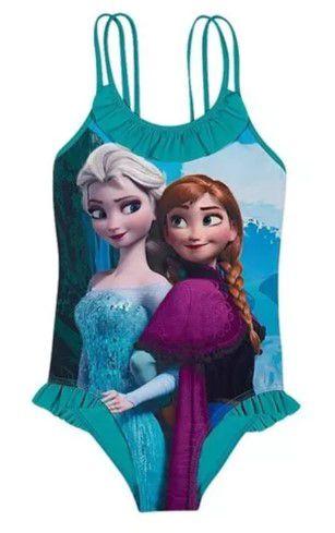 Maiô da Anna e Elsa - Disney Frozen  - Verde Água - Tiptop