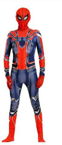 Fantasia Homem Aranha - Guerra Infinita - Adulto - Vermelho e Azul