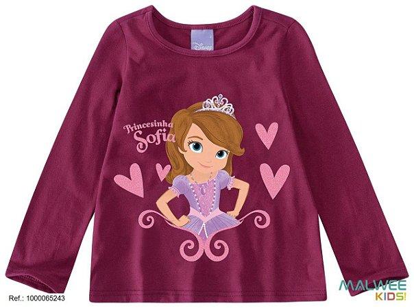 Blusa Princesa Sofia - Disney - Bordô - Malwee