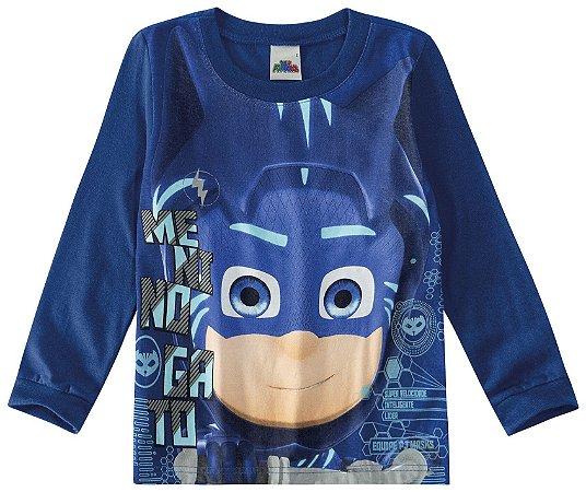 Blusa Equipe Heróis - PJ Masks - Azul - Malwee