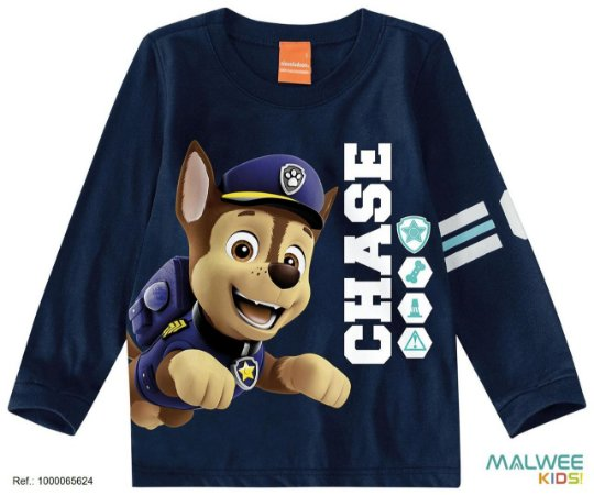 Blusa Chase - Patrulha Canina - Azul Marinho - Malwee